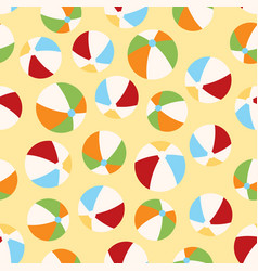 cute summer pattern with balls vector image