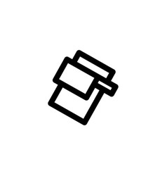 cutting board cleaver icon symbols vector image