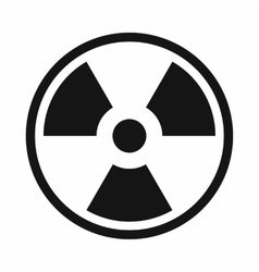 Danger nuclear icon simple style vector image