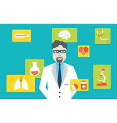 Doctor and medical service vector