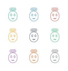 Emoji angel icon white background vector