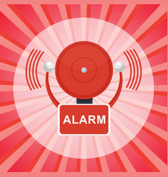 fire alarm poster vector image