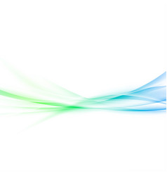 fresh abstract spring smooth waves background vector image