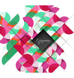 geometric shape on white vector image