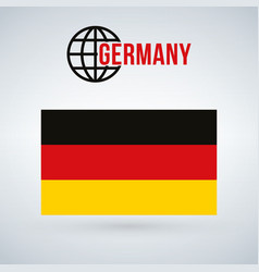 germany flag isolated on modern background with vector image