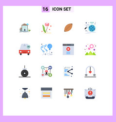 Group 16 modern flat colors set for home rose vector