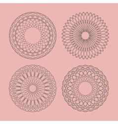 Guilloche elements vector image