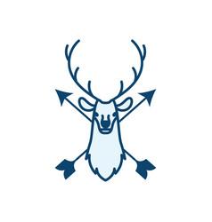 Hunting logo icon design vector