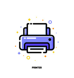 icon of printer for office work concept vector image