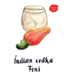indian vodka feni it means cashew vector image
