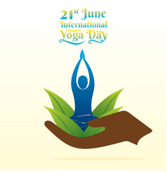 international yoga day poster vector image