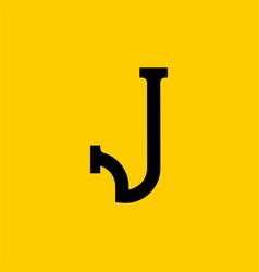 J letter old russian font national folk alphabet vector
