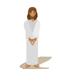 Jesus christ sentenced death - via crucis vector