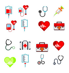 medical logo icon vector image
