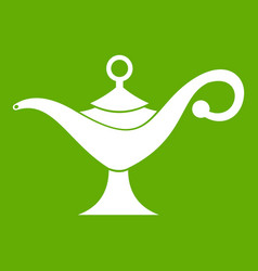 middle east oil lamp icon green vector image