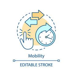 mobility advantage concept icon vector image