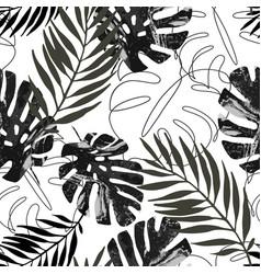 Modern seamless pattern one line art marble vector