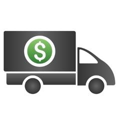 Money Delivery Gradient Icon vector