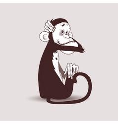 Monkey huggs head vector image