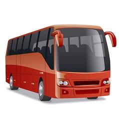 new modern comfortable city bus vector image