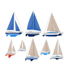 odern sailboat vector image