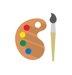 Paint brush with palette vector
