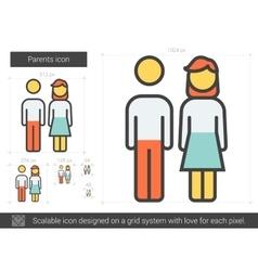 Parents line icon vector