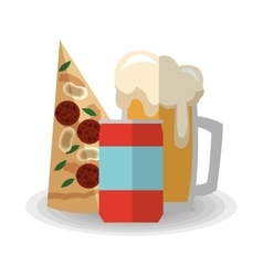 Pizza beer and soda design vector