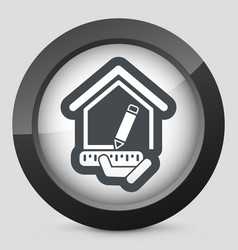 planing house vector image