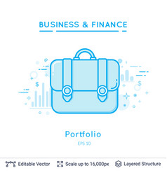 portfolio symbols on white vector image