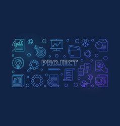 project horizontal colored outline banner vector image