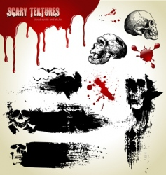 scary textures vector image