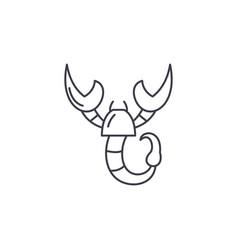 scorpio zodiac sign line icon concept scorpio vector image