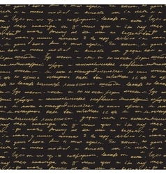 Seamless abstract text pattern Gold text on vector image