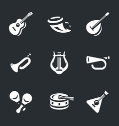 set of musical instruments icons vector image