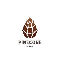 simple minimalist geometric pine cone logo design vector image