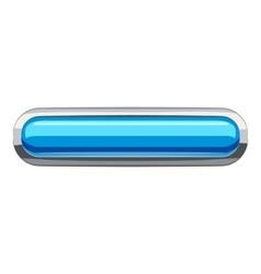 Sky blue rectangular button icon cartoon style vector