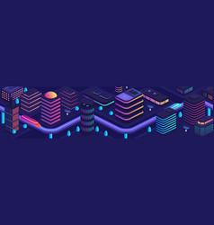 smart city in a futuristic style a city vector image