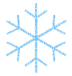 snowflake collage of dollar vector image