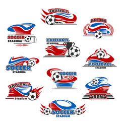 Soccer stadium or football sport arena icon design vector