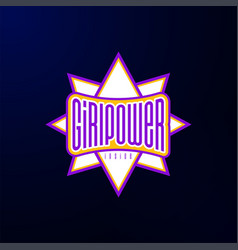 sport emblem typography super girl power hero vector image