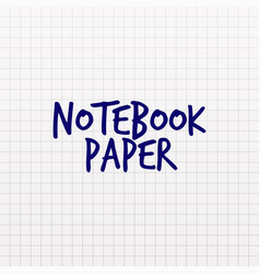 squared paper texture notebook page in cage vector image