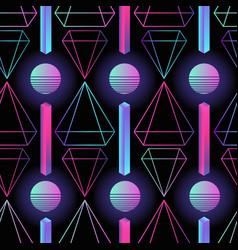 Stylish retro futuristic seamless pattern vector