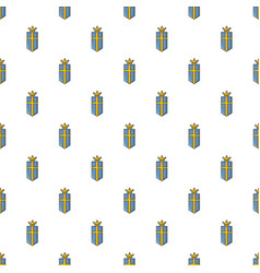sweden crown pattern seamless vector image