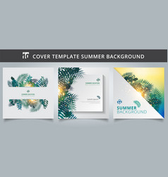 template brochure cover summer tropical vector image