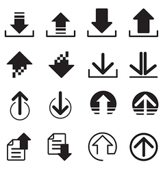 Upload DownLoad icons set vector