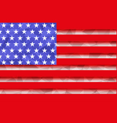 usa flag polygonal vector image