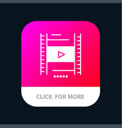 Video lesson film education mobile app icon design vector