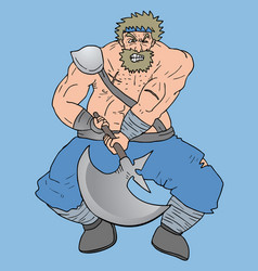 vikingo fat vector image