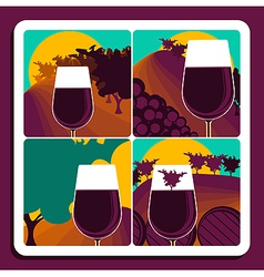 Viticulture and wine vector